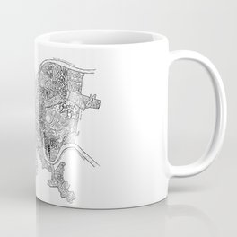 Pittsburgh Neighborhoods - black and white Coffee Mug