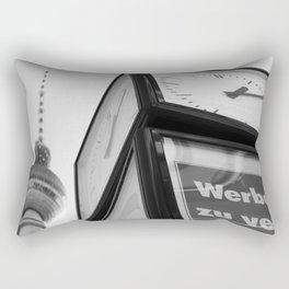 Berlin Clock BW Rectangular Pillow