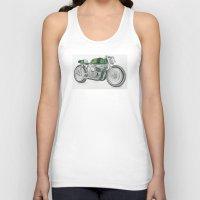 motorbike Tank Tops featuring MOTORBIKE by EDENLAND