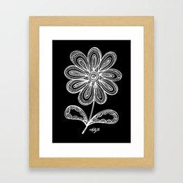 White Flower 93 Framed Art Print