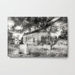 Sleepy Hollow Dutch Church Vintage Metal Print