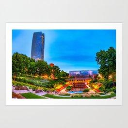 Oklahoma City Myriad Botanical Gardens and Skyline Art Print