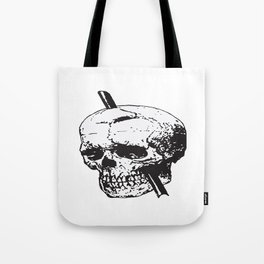 Frontal Lobotomy Skull Of Phineas Gage Vector Isolated Tote Bag