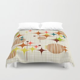 Starbursts and Globes Duvet Cover