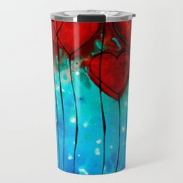 Hearts On Fire - Romantic Art By Sharon Cummings Travel Mug
