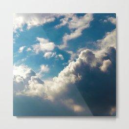 Cloud Pillows Metal Print