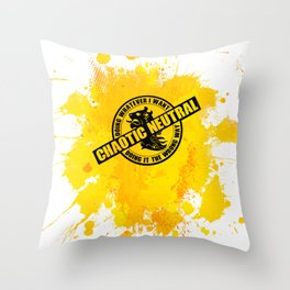 Chaotic Neutral RPG Game Alignment Throw Pillow