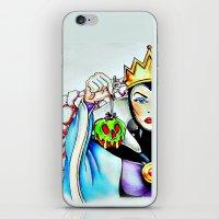 evil queen iPhone & iPod Skins featuring Evil Queen by Bernadette Woods