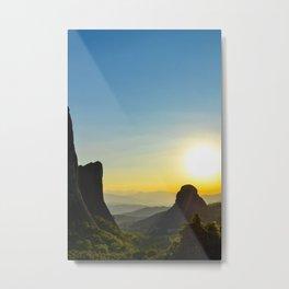 Meteora Sunset Metal Print