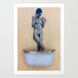 The Birth of Blue Art Print