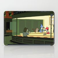 regular show iPad Cases featuring regular show nighthawks by Dave Collinson