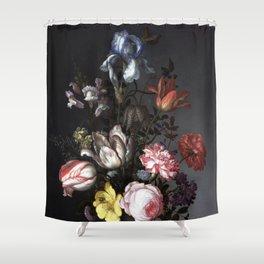 Dutch floral, vintage, bouquet, bohemian, Shower Curtain