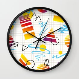 1980s Fashion Patterns Vol 2_Countach Wall Clock
