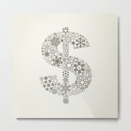 Snowflake dollar Metal Print