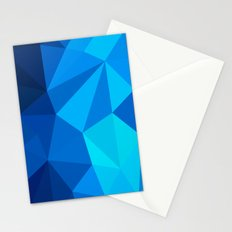 Geometric blue whale Stationery Cards