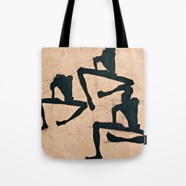 Egon Schiele  -  Composition With Three Male Nudes Tote Bag
