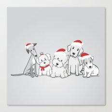 Christmas Dogs Canvas Print