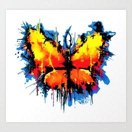 Emotional Butterlfy Art Print