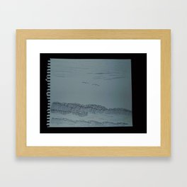 Zoe's Art Stuff - Ocean and Seagulls Framed Art Print