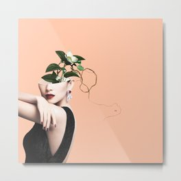 Lady Flowers XVI Metal Print