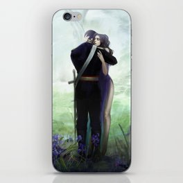 In your arms - Love embrace before departure - couple tight hug iPhone Skin