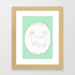 Lamas are Cool Framed Art Print