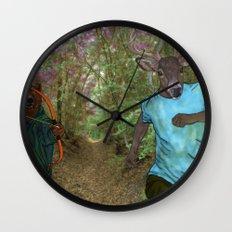 Bear Bow Hunting Wall Clock