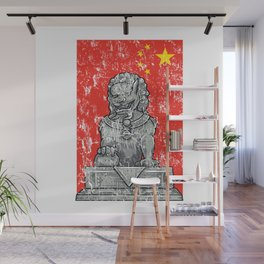 Lion Vintage Statue Wall Mural
