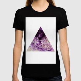 amethyst triangle T-shirt
