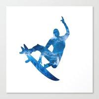surf Canvas Prints featuring Surf by Sébastien BOUVIER