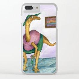 Dressy Dinosaur - Shirley Clear iPhone Case