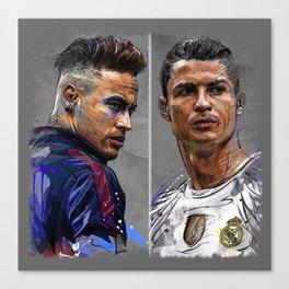 neymar jr and cristiano ronaldo Canvas Print