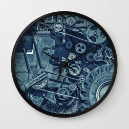 Frosted Combine Harvester Agro Art Wall Clock