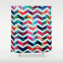 ZAG OF WAVES Shower Curtain