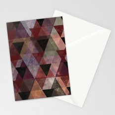 Abstract #482 Triangle Collage Stationery Cards