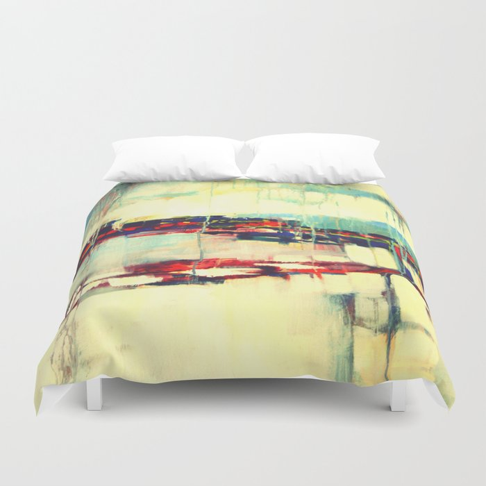 Warsaw III - abstraction Duvet Cover