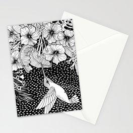 Hummingbird garden Stationery Cards