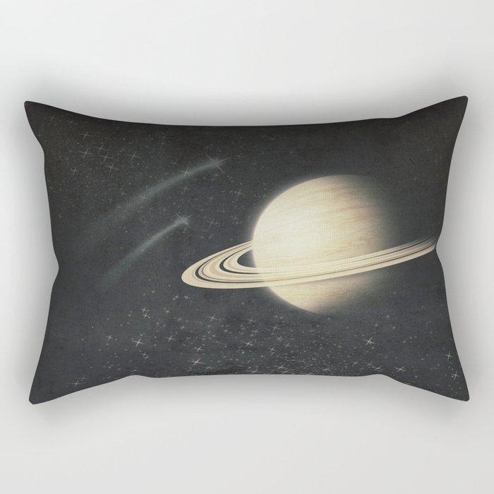 Deep Black Space Rectangular Pillow