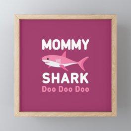 Mommy Shark Framed Mini Art Print