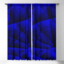 Geometric web of blue lines with dark triangular highlights. Blackout Curtain