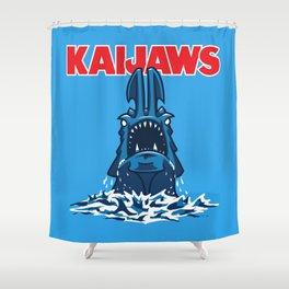 KaiJaws (Pacific Rim/Jaws) Shower Curtain