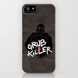 Grub Killer (Red) iPhone Case