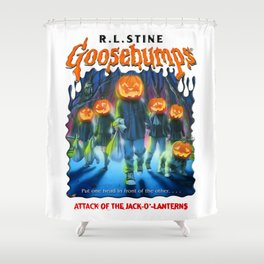 Goosebumps Attack of the Jack O'Lanterns Shower Curtain