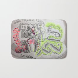 Tripping Cheshire Cat Bath Mat