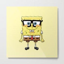 Spongebob's Glasses Metal Print