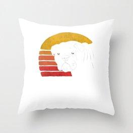Retro English Bulldog  Throw Pillow