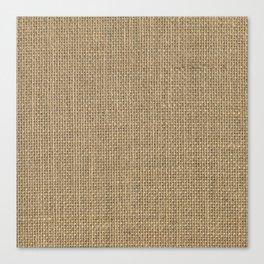 Natural Woven Beige Burlap Sack Cloth Canvas Print