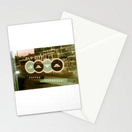 Old City Java Sign in Mint Stationery Cards