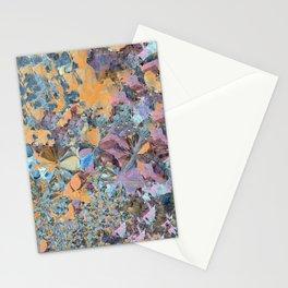 Purple and Orange Flower Garden Stationery Cards