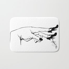 See Yourself Out | B&W Variant Bath Mat